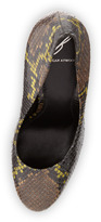 Brian Atwood B by Fontanne Snakeskin Pump, Yellow