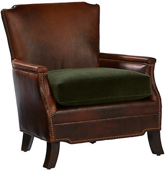 Gerry Club Chair - Cocoa Leather - Massoud