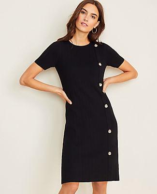 Ann Taylor Side Button Sweater Dress