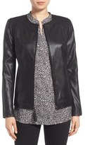 Via Spiga Women's Leather & Ponte Jacket