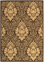 "Safavieh Courtyard Collection CY2714-3409 Chocolate and Natural Indoor/ Outdoor Area Rug, 6 feet 7 inches by 9 feet 6 inches (6'7"" x 9'6"")"