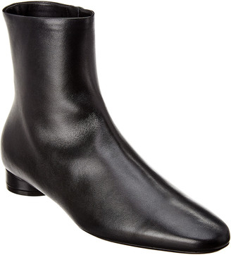 Balenciaga Oval Ankle Leather Boot