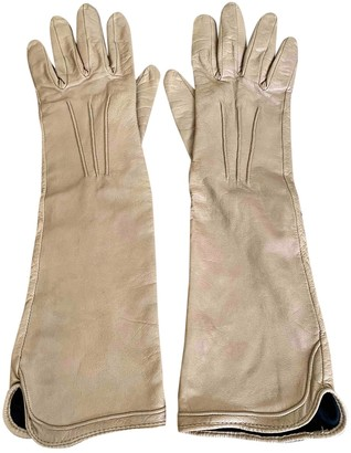 Non Signã© / Unsigned Beige Leather Gloves