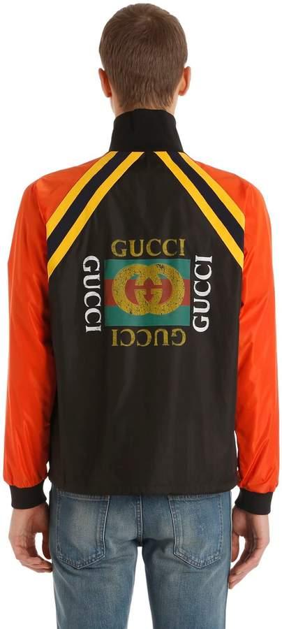 Gucci Logo Printed Light Nylon Jacket