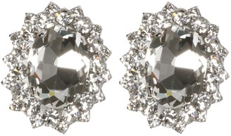 Alessandra Rich Oval Crystal Clips