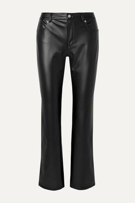 Alexander Wang Faux Leather Straight-leg Pants - Black