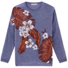 Paul & Joe Sister Blue Palm Sweater - 0 - Purple