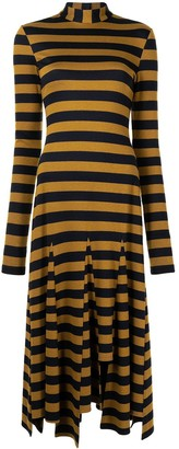 Monse Stripe Godet Dress
