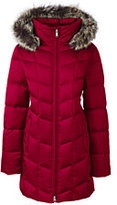 Classic Women's Petite Shimmer Down Parka-Deep Scarlet