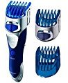 Panasonic Beard Trimmer, Hair Clipper, Men's, Cordless, with 10 Adjustable Trim Settings and Two Comb Attachments, Wet/Dry, ER-GS60-S