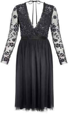 Needle & Thread Ava Embellished V-Neck Dress