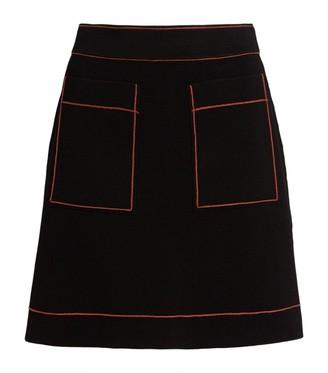 Sandro Paris Knitted A-Line Skirt