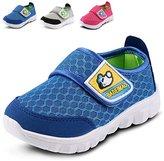 LONSOEN Kid Mesh Sneakers Athletic Hook-and-Loop Light Weight Running Shoes(Toddler/Little Kid)