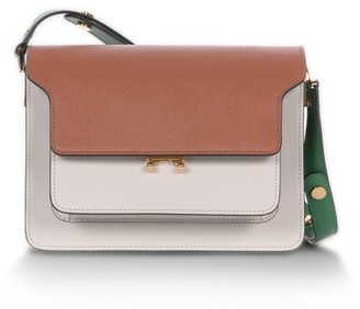 Marni Trunk Medium Tricolour Saffiano-leather Bag - Tan Multi