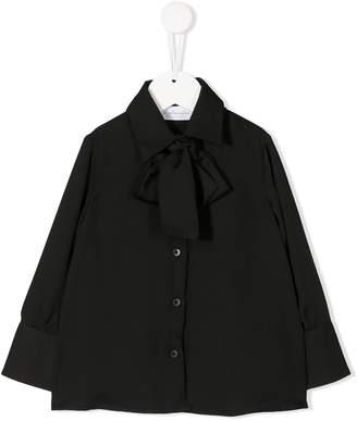 Le Gemelline By Feleppa bow-neck long-sleeve blouse