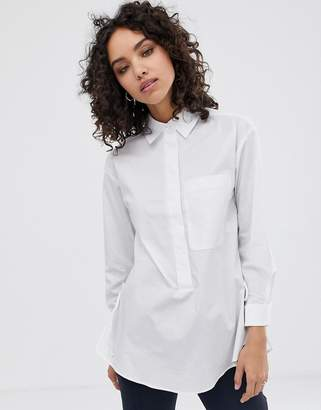 Finery Ardelle tie side shirt-White