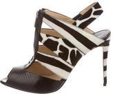 Paul Andrew Ponyhair Animal Print Sandals