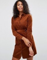 Brave Soul Belted Shirt Dress