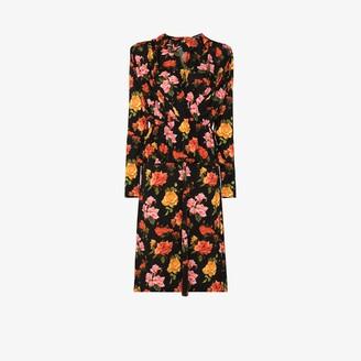 Commission Fanny Floral Print Midi Dress