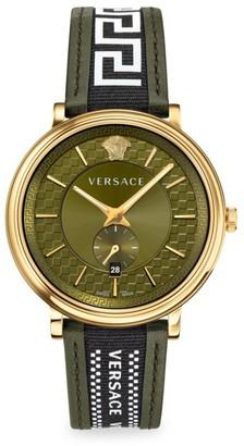 Versace V Circle Greca Edition Two-Tone Chronograph Watch