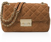 MICHAEL Michael Kors Sloan Large Quilted Suede Chain Shoulder Bag