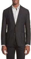 Armani Collezioni Men's Trim Fit Textured Sport Coat
