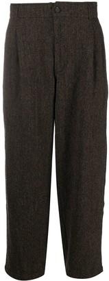 Comme des Garçons Shirt Chevron Loose-Fit Wool Trousers