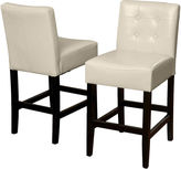 JCPenney Everette Set of 2 Tufted Bonded Leather Barstools