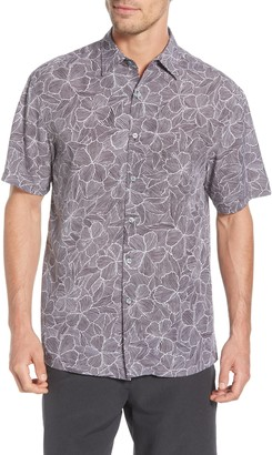 Tori Richard Fine Lines Classic Fit Floral Short Sleeve Button-Up Shirt