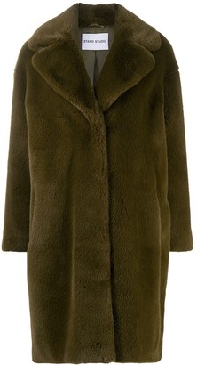 Stand Oversized Shearling Coat