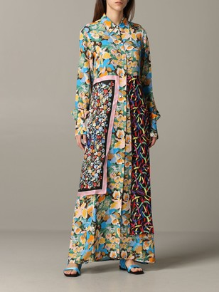 M Missoni Long Chemisier Dress With A Mix Of Patterns