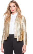 ELOQUII Plus Size Quilted Metallic Jacket