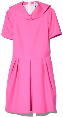 Dice Kayek Full Skirt Dress in Fuchsia