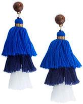 Vineyard Vines Triple Tassel Earrings