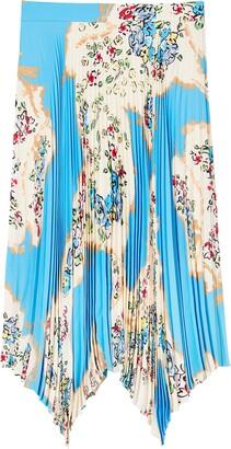 Tory Burch Sunburst Floral Pleated Skirt