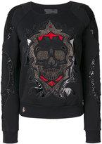 Philipp Plein embroidered sweater