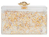 Ashlyn'D Shellshaker Sand Box Lucite Clutch