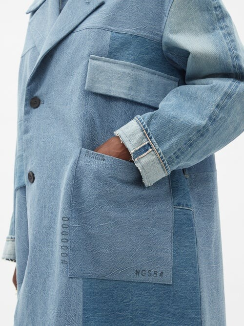Thumbnail for your product : Kuro Patchworked Denim Coat - Denim