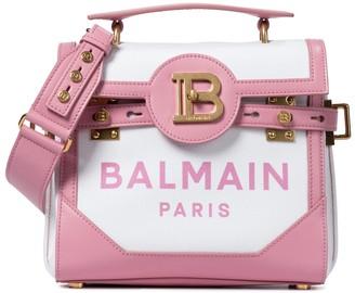 Balmain B-Buzz 23 Small leather-trimmed shoulder bag