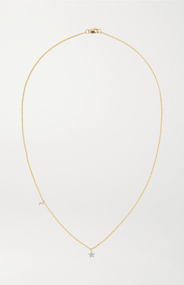 STONE AND STRAND Moon And Star 14-karat Gold Diamond Necklace