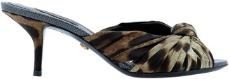 Dolce & Gabbana Leopard Print Sandals