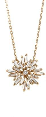 Suzanne Kalan Round Firework Rose Gold Necklace