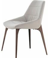Modloft Leather Upholstered Side Chair Black Upholstery Color: Silver Birch