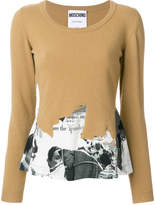 Moschino long sleeved cut away sweatshirt