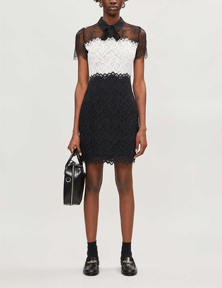 Sandro Rozen lace-panel dress