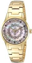 88 Rue du Rhone Women's 'Rive' Swiss Quartz Stainless Steel Dress Watch, Color:Gold-Toned (Model: 87WA153205)