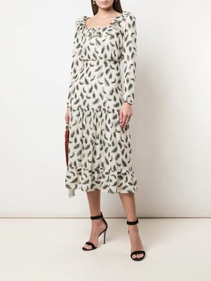 Saloni Misha Silk Mid-length Dress