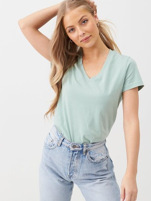 Very The Basic V Neck T-shirt - Sage