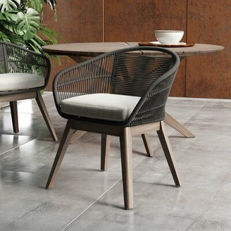 Bungalow Rose Shayne Solid Wood Dining Chair Color: Dark Gray