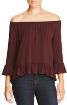 Sanctuary Julie Ruffled Off-The Shoulder Top